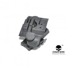 Attacco rapido per luce HL1-A FAST Helmet Light Mount Nero (Emerson)