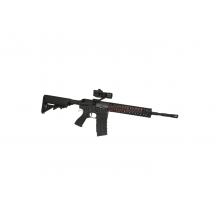Fucile elettrico CM16 R8 Fiber Body Black + Red-Dot (G&G)